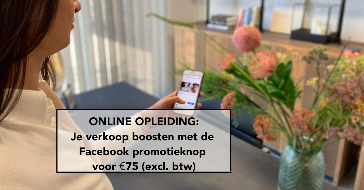 E-Volve, blog, verkoop boosten, Facebook promotieknop, communicatie, sales, marketing, Hasselt